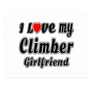 I love my Climber Girlfriend Post Card