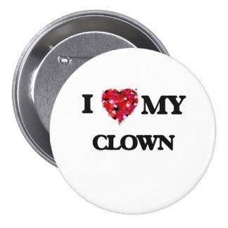 I love my Clown 3 Inch Round Button