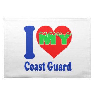 I love my Coast Guard. Cloth Place Mat