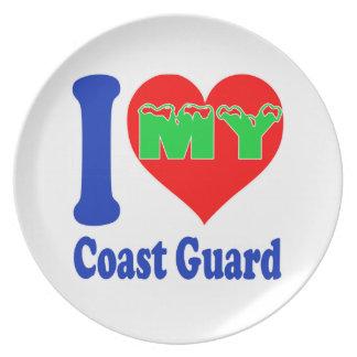 I love my Coast Guard. Plate