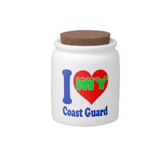 I love my Coast Guard. Candy Jar