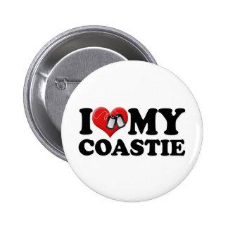 I Love My Coastie 6 Cm Round Badge