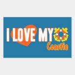 I Love My Coastie! Stickers