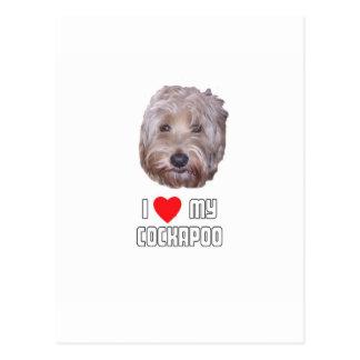 I Love my Cockapoo Postcard
