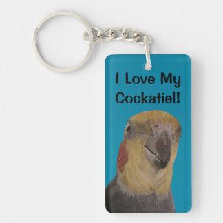 I Love My Cockatiel! Bird Key Ring
