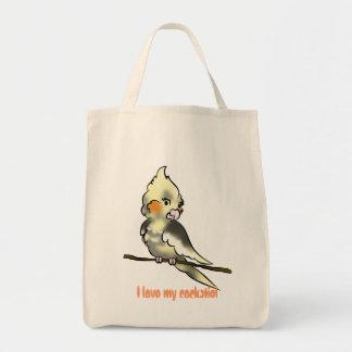 I love my cockatiel grocery baggie