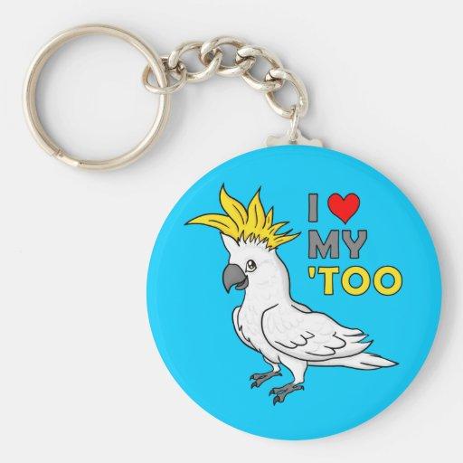 I Love My Cockatoo Key Chain