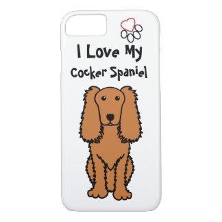 I Love My Cocker Spaniel Phone Case