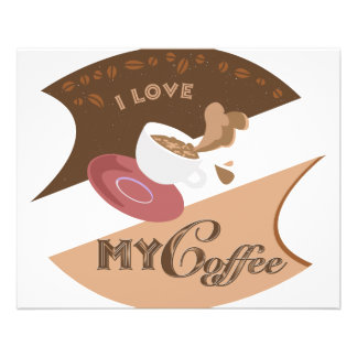 I Love My Coffee Retro Diner Java Splash Flyers