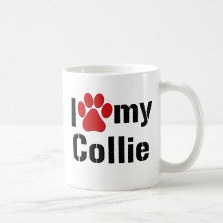 I Love My Collie Basic White Mug