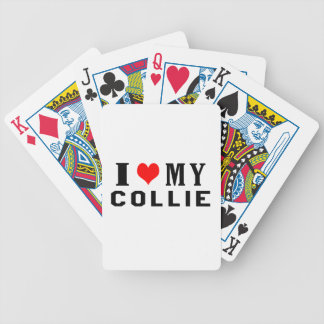 I Love My Collie Bicycle Poker Deck