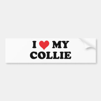 I Love My Collie Bumper Sticker