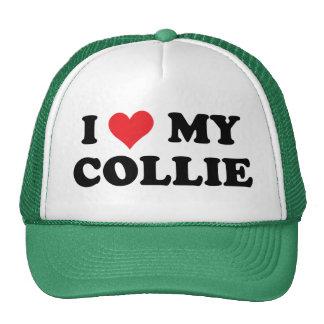 I Love My Collie Cap
