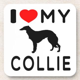 I Love My Collie Coaster