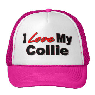 I Love My Collie Dog Gifts and Apparel Cap