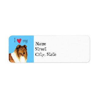 I Love my Collie Return Address Label
