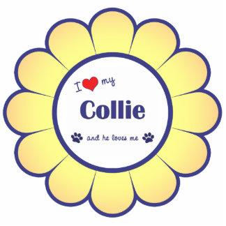 I Love My Collie (Male Dog) Photo Sculpture Decoration