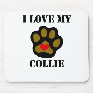 I Love My Collie Mouse Pads
