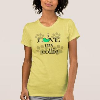 i LOVE my collie, paw prints & hearts Tee Shirts