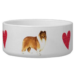 I Love my Collie Pet Bowls