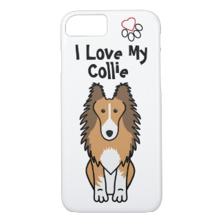 I Love My Collie Phone Case