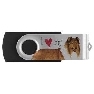 I love my Collie Swivel USB 3.0 Flash Drive
