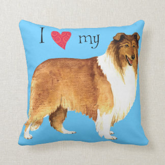 I Love my Collie Throw Cushion