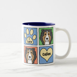 I Love My Collie Two-Tone Coffee Mug