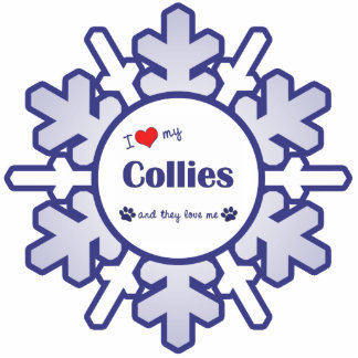 I Love My Collies (Multiple Dogs) Photo Sculpture Decoration