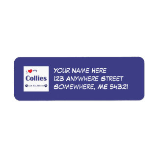 I Love My Collies (Multiple Dogs) Return Address Label