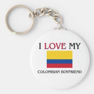 I Love My Colombian Boyfriend Key Ring
