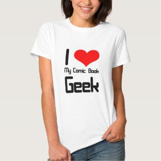 I love my comic book geek tshirt