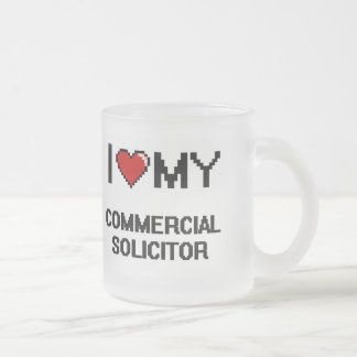 I love my Commercial Solicitor 10 Oz Frosted Glass Coffee Mug