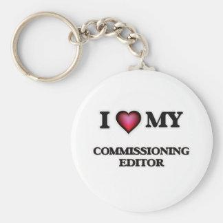 I love my Commissioning Editor Basic Round Button Key Ring