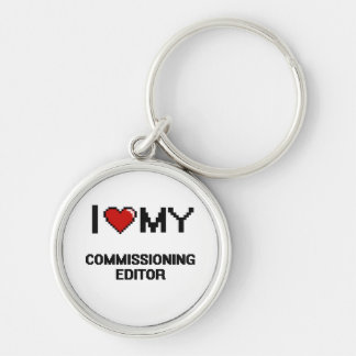 I love my Commissioning Editor Silver-Colored Round Key Ring