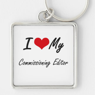 I love my Commissioning Editor Silver-Colored Square Key Ring