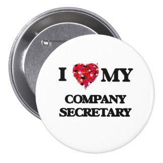 I love my Company Secretary 7.5 Cm Round Badge