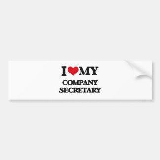 I love my Company Secretary Bumper Sticker