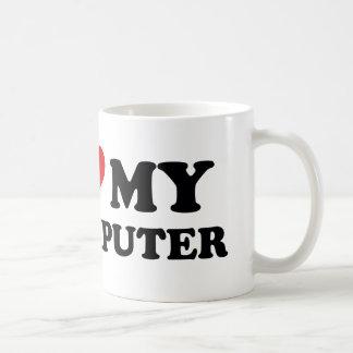 I Love My Computer Basic White Mug