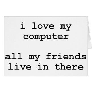 i love my computer card