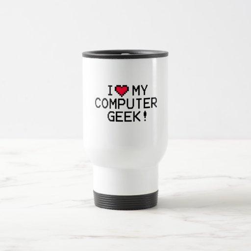 I Love My Computer Geek Coffee Mug
