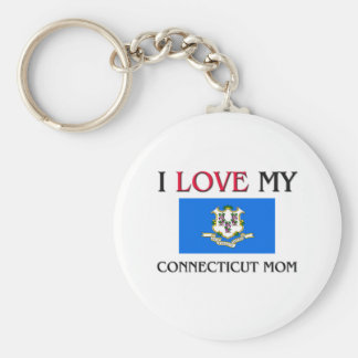 I Love My Connecticut Mom Key Ring