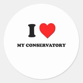 I love My Conservatory Round Stickers