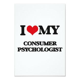 "I love my Consumer Psychologist 3.5"" X 5"" Invitation Card"