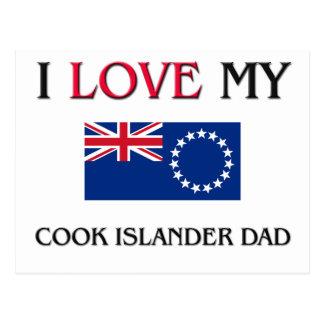 I Love My Cook Islander Dad Postcard