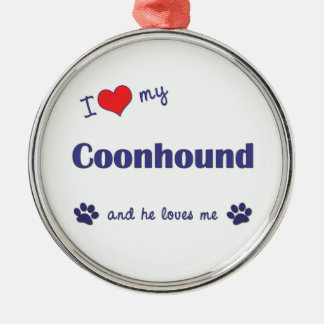 I Love My Coonhound (Male Dog) Christmas Ornament
