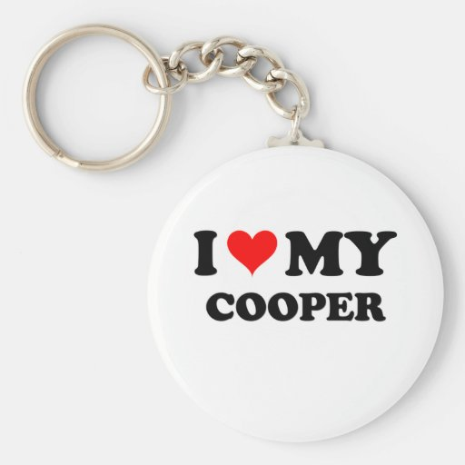 I Love My Cooper Key Chain