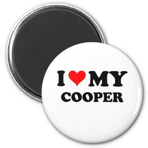 I Love My Cooper Refrigerator Magnet