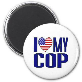 I Love My Cop 6 Cm Round Magnet