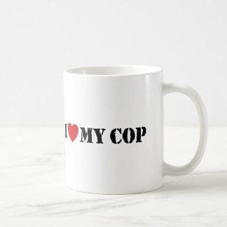 I Love My Cop Basic White Mug
